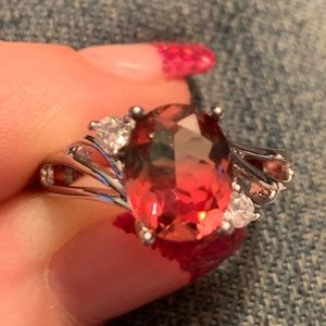 Sterling silver watermelon ring size 8